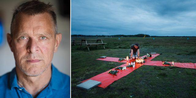Johan Hellström/bild från en minnesplats för offren. TT
