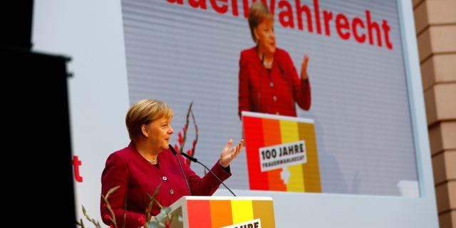 Angela Merkel, Tysklands förbundskansler. FABRIZIO BENSCH / TT NYHETSBYRÅN