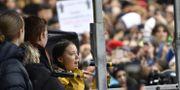 Thunberg i samband med demonstrationen Henrik Montgomery/TT / TT NYHETSBYRÅN