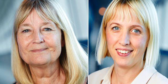 Marita Ulvskog och Jytte Guteland. TT