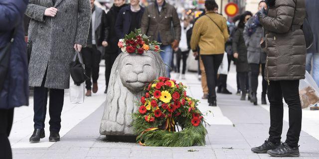 Årsdagen för terrordådet i Stockholm.  Claudio Bresciani/TT