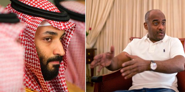 Arkivbilder. Mohammed bin Salman (t v),  Ahmed al-Assiri (t h). TT