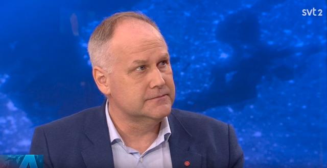V-ledaren Jonas Sjöstedt. SVT
