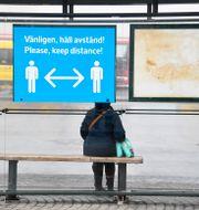 Busshållplats.  Anders Wiklund / TT NYHETSBYRÅN