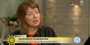 Malin Björk frågas ut i TV4 Nyhetsmorgon.  TV4