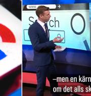 Googles juridiska chef David Price svarade på frågor i SVT:s studio. TT/SVT