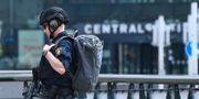 Polis på plats under händelsen Johan Nilsson/TT / TT NYHETSBYRÅN