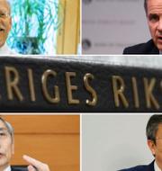 Riksbankens ordförande Stefan Ingves, BOE:s ordförande Mark Carney, BOJ:s ordförande Haruhiko Kuroda och PBOC:s ordförande Yi Gang. TT