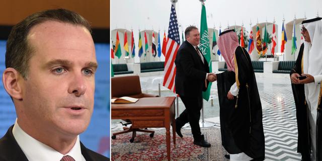 Brett McGurk menar att mötet i Riyadh inte har någonting med utbetalningen att göra. TT