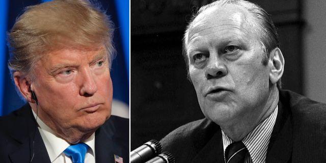 Donald Trump och Gerald Ford. TT