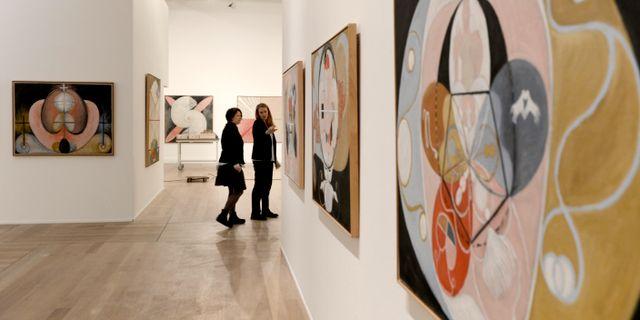 Utställning med Hilma af Klint på Moderna Museet i Stockholm/Arkivbild. PONTUS LUNDAHL / TT / TT NYHETSBYRÅN