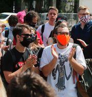 Kirill Serebrennikov i rätten/Demonstrationer till stöd för regissören utanför domstolen TT/AP