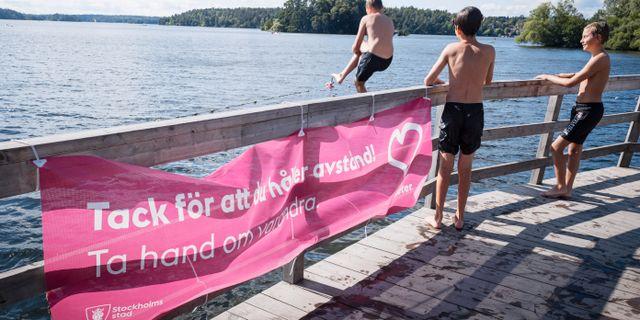 Badande barn i Stockholm/Arkivbild. Naina Helén Jåma/TT / TT NYHETSBYRÅN