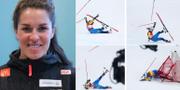 Maria Pietilä-Holmner och kraschen. TT