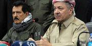 Kosrat Rasul och regionpresident Massud Barzani. MARWAN IBRAHIM / AFP