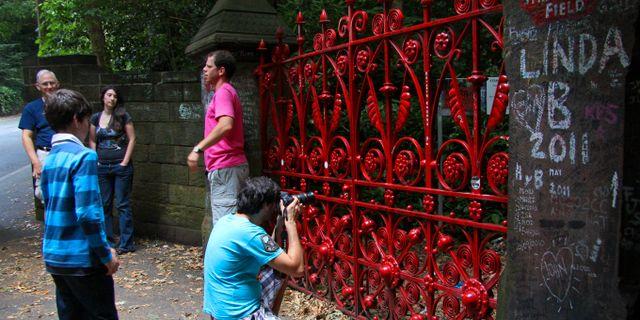 Parken Strawberry Fields i Liverpool har varit stängd i 50 år. Guillaume Baviere