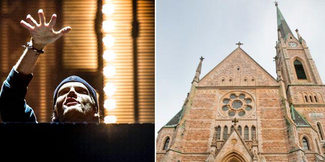 Aviciis musik kommer att höras från klocktornet på Oscarskyrkan. TT