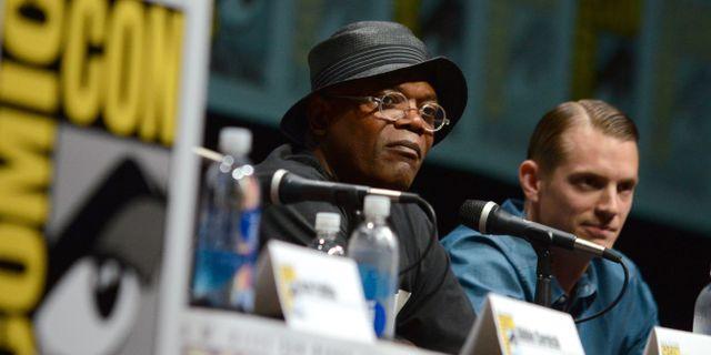 Samuel L Jackson och Joel Kinnaman på Comic-Con. Jordan Strauss/AP