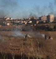 De senaste dagarna har flera större protester brutit ut på Västbanken.  Nasser Nasser / TT NYHETSBYRÅN