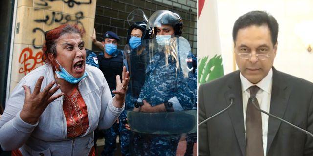 Bild från protest i Beirut förra veckan/Hassan Diab. TT