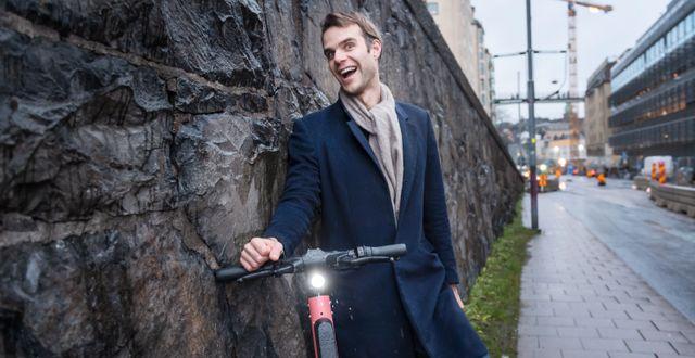 Fredrik Hjelm är vd för Voi. Arkivbild.  Stina Stjernkvist/TT / TT NYHETSBYRÅN