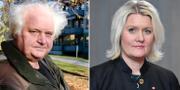 Göran Greider, Lena Rådström Baastad. Arkivbilder.  TT