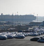 Volvo-bilar i Göteborgs hamn. Arkivbild. ADAM IHSE / TT NYHETSBYRÅN