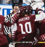 Lettlands landslag i ishockey/Arkivbild Ronald Zak / TT NYHETSBYRÅN