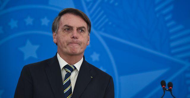 Jair Bolsonaro. Andre Borges / TT NYHETSBYRÅN