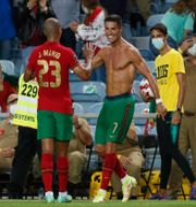 Cristiano Ronaldo jublar. Armando Franca / TT NYHETSBYRÅN