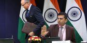 Raveesh Kumar till höger. Manish Swarup / TT NYHETSBYRÅN/ NTB Scanpix