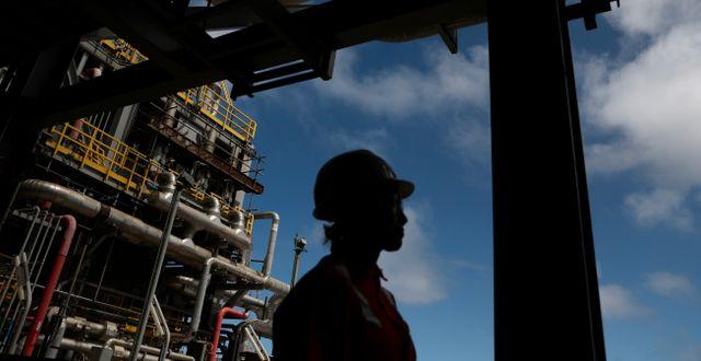 Arkivbild: En av Petrobras oljeriggar utanför brasiliens kust. Pilar Olivares / TT NYHETSBYRÅN