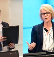 Torbjörn Hållö, LO, och Elisabeth Svantesson (M) TT