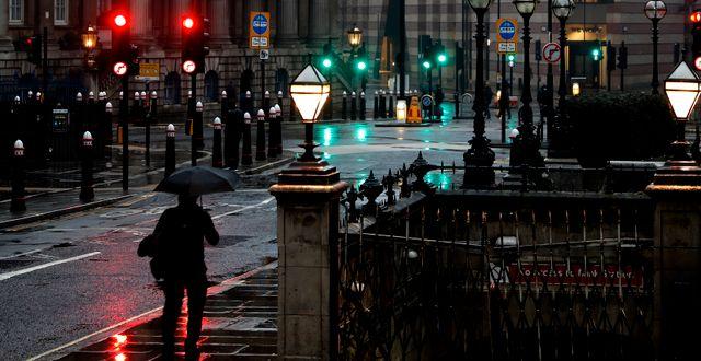 Ödsligt i London. Alastair Grant / TT NYHETSBYRÅN