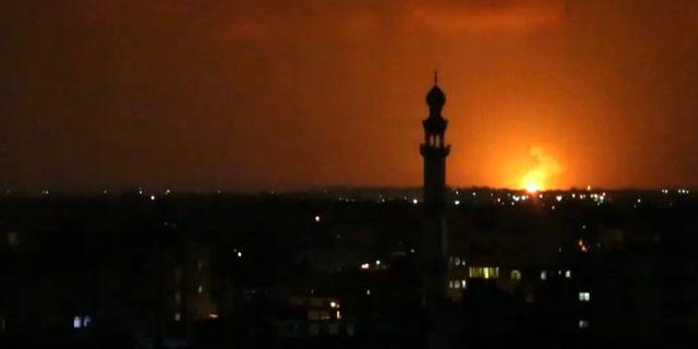 Israels svarsattack.  SAID KHATIB / AFPTV