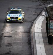 Arkivbild på en polisbil. Anders Wiklund/TT / TT NYHETSBYRÅN