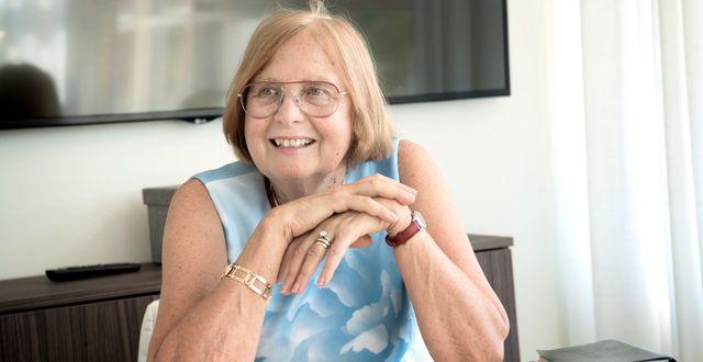 Barbara Bergström, grundare av Internationella Engelska Skolan.  Malin Hoelstad/SvD/TT / TT NYHETSBYRÅN