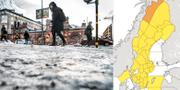 Snö i Stockholm/SMHI:s vädervarningar TT/SMHI