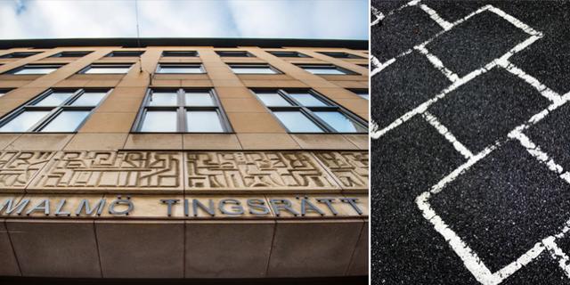 Illustrationsbilder: Malmö tingsrätt och skolgård. TT