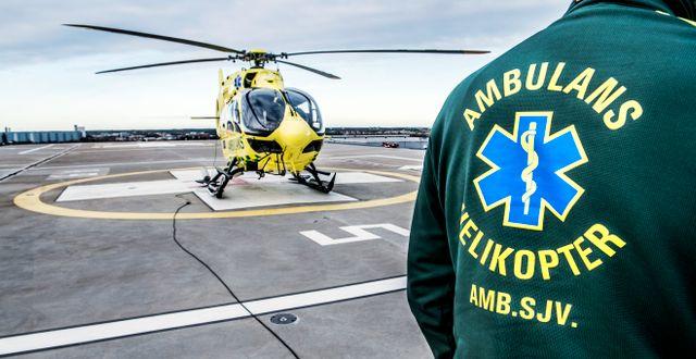 En ambulanshelikopter.  Tomas Oneborg/SvD/TT / TT NYHETSBYRÅN