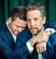 Programledarna Fredrik Wikingsson och Filip Hammar. Claudio Bresciani/TT / TT NYHETSBYRÅN