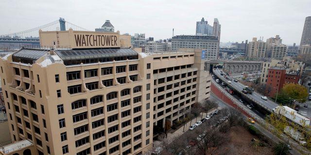 Jehovas vittnens högkvarter i Brooklyn, New York.  Seth Wenig / TT NYHETSBYRÅN/ NTB Scanpix