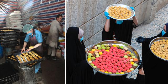 Förberedelser för eid i Afghanistan och Irak.  TT