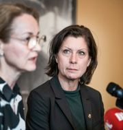 Maria Groop Russel, Dramatens nya vd, till höger. Lars Pehrson/SvD/TT / TT NYHETSBYRÅN