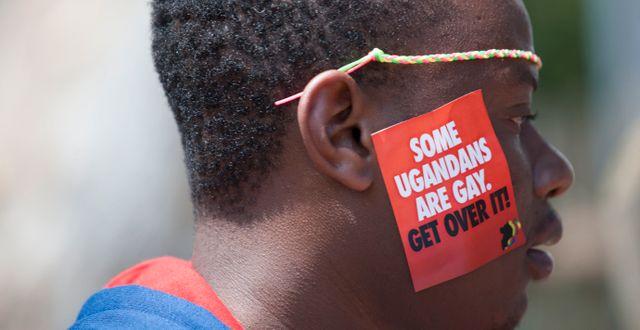 Arkivbild. Pridefestival i Entebbe i Uganda 2014.  Rebecca Vassie / TT NYHETSBYRÅN
