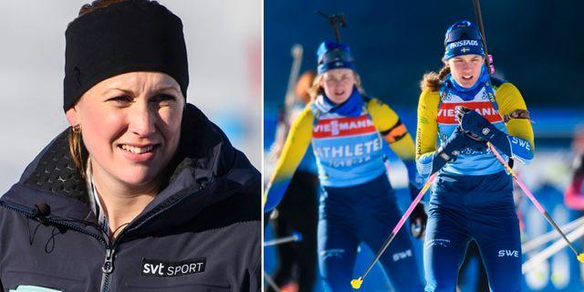 Helena Ekholm och Hanna Öberg.  Bildbyrån.