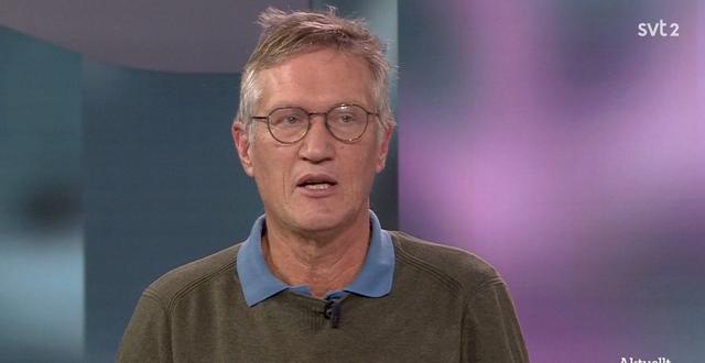 Anders Tegnell.  SVT/Skärmdump