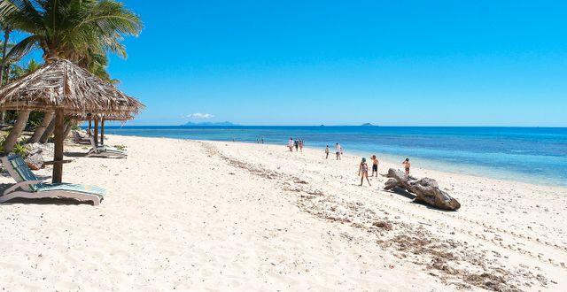 En strand på Fiji Gustav Sjöholm / TT NYHETSBYRÅN
