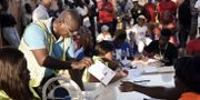 En vallokal i huvudstaden Bissau.  SEYLLOU / AFP