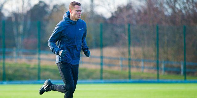 Viktor Claesson springer på Kaknäs. KENTA JÖNSSON / BILDBYRÅN